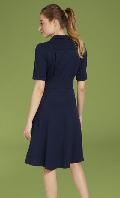 Diner Dress Milano Crepe Dark Navy