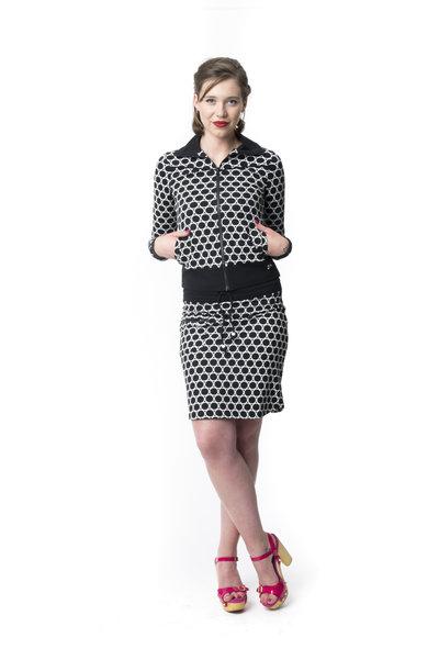 Skirt Zipper Circles Black