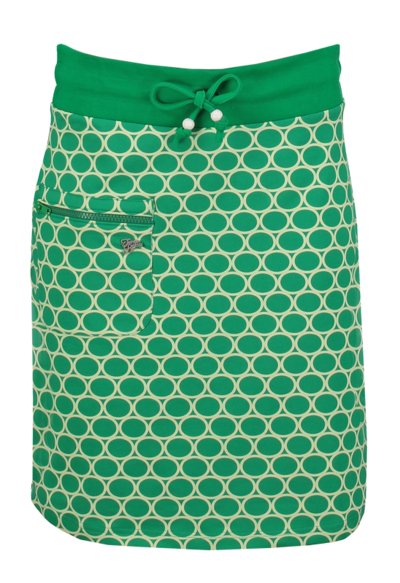 Skirt Zipper Circles Green