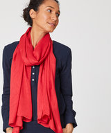 Owen Bamboo Scarf Poppy Red