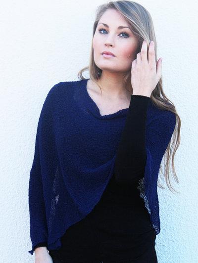 Ella small cape dark blue
