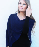 Ella small cape dark blue