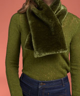 Faux Fur Scarf Zoot Oasis Green