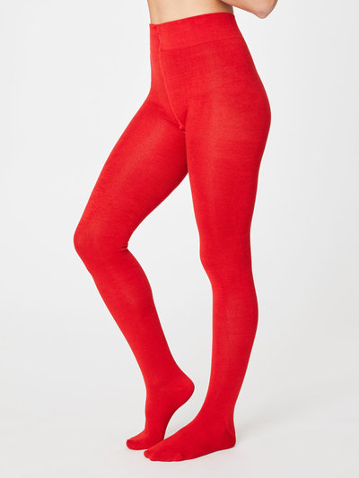 Phoebe Tights Bamboo Poppy Red