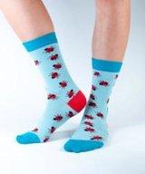 Bamboo Socks Aqua Ladybirds