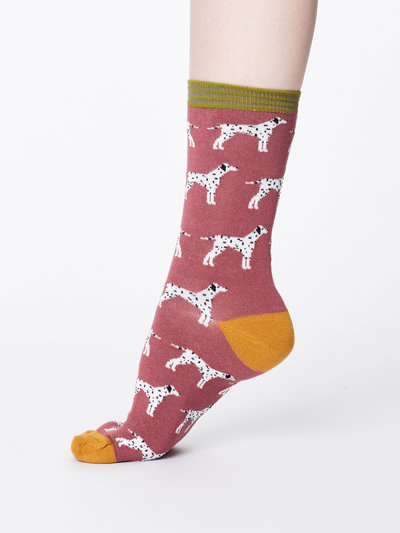Dalmation Bamboo Socks Rose Pink