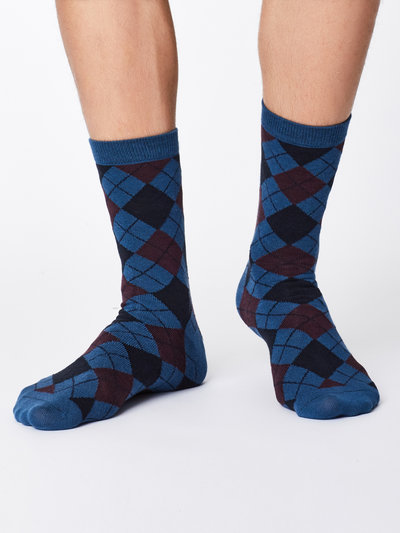 MCKinnon Bamboo Socks Blue