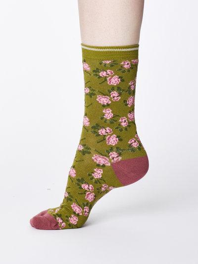 Cottage Bamboo Socks Olive