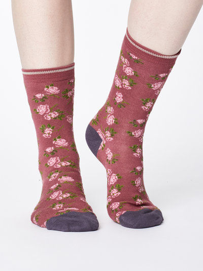 Cottage Bamboo Socks Rose Pink