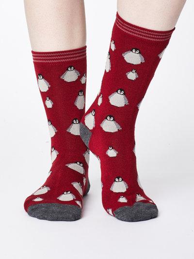 Penguin Bamboo Socks Claret Red