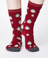 Penguin Bamboo Socks Claret Red