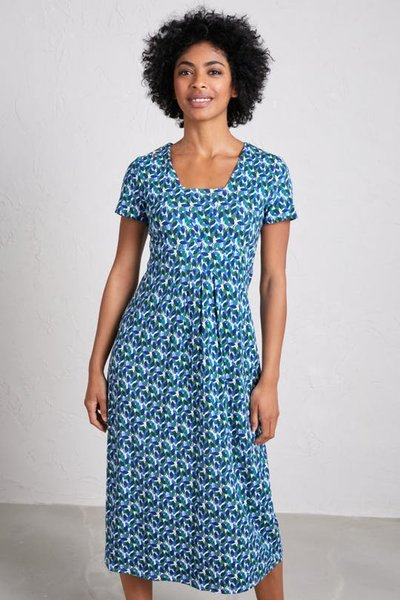 Short-sleeved Seed Packet Dress