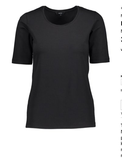 Basic T-shirt Organic Cotton Black