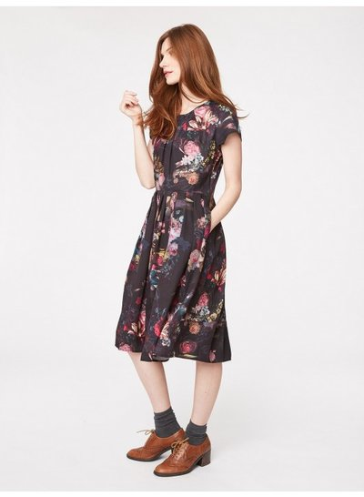 Vermeer Floral Print Tencel Dress