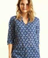 3/4 Sleeve Shirt Indigo