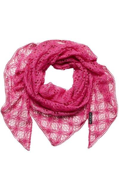 Handgjord bomulls sjal /spets