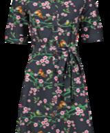 Dress Birds Blossom Black